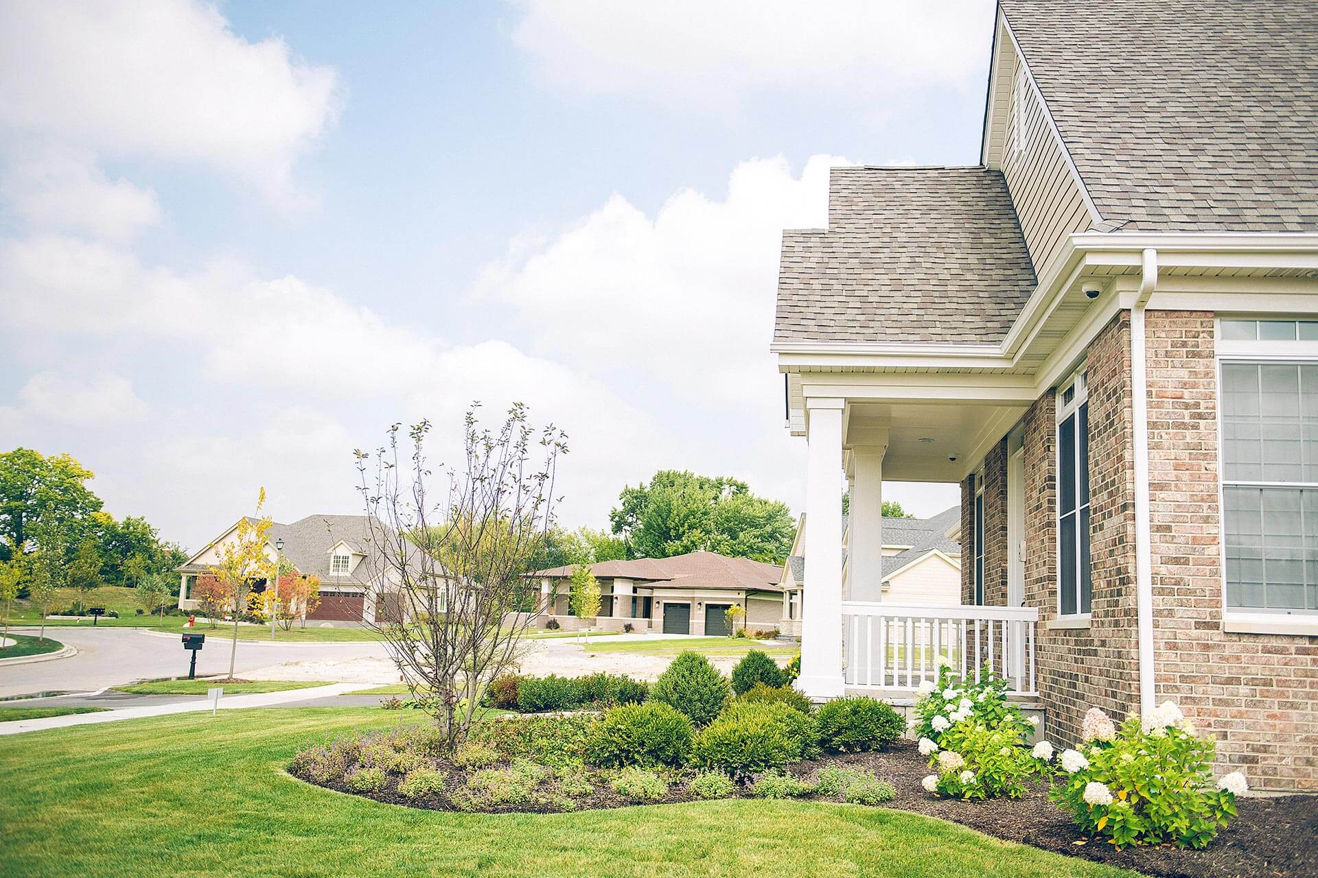 Beautiful new homes on a cul-de-sac in Provenance, in Northbrook, IL