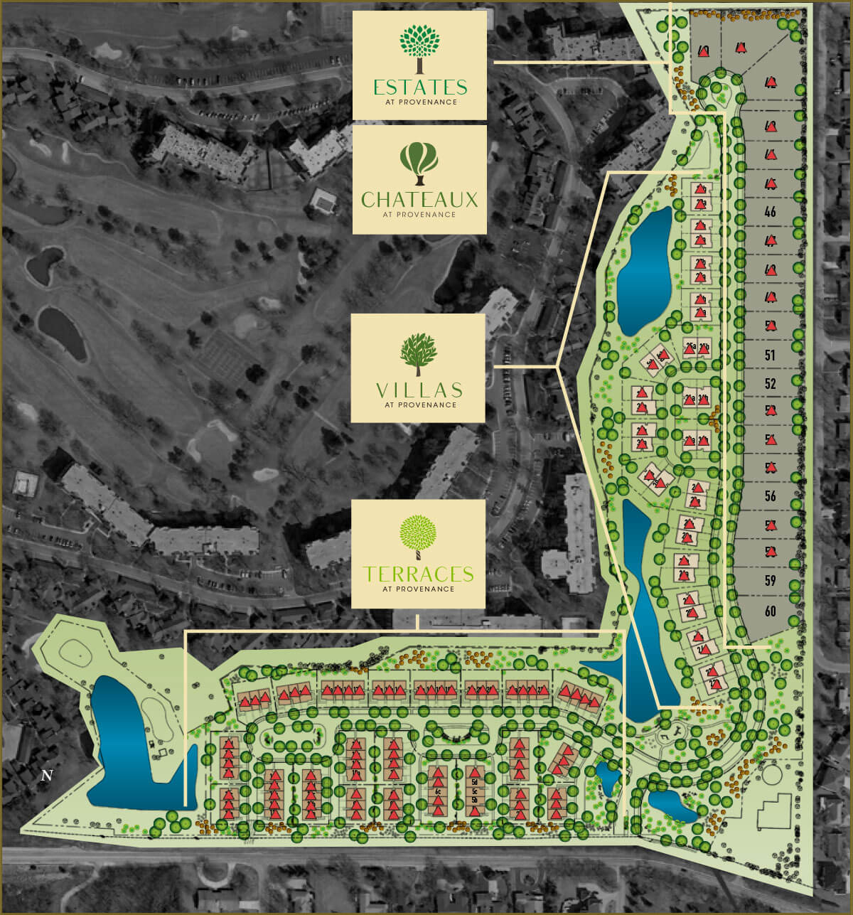 Here are our available lots at Provenance.
